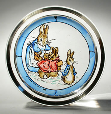 paperweight - beatrix potter - rabbit and bunnies