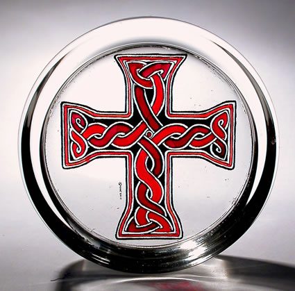 Stained Glass paperweight - Celtic - Donegal Cross