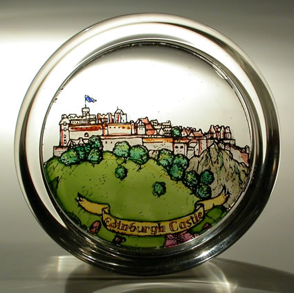 Stained Glass paperweight - Scottish - Edinburgh Castle