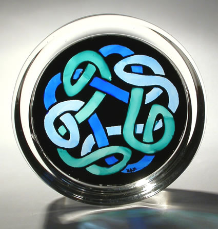 Stained Glass Paperweight - Eternal Knot