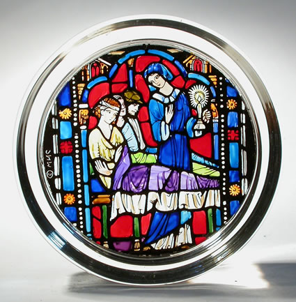 Stained Glass paperweight - Florence Nightingale Washington National Cathedral