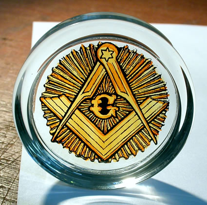 Freemasons Society Paperweight