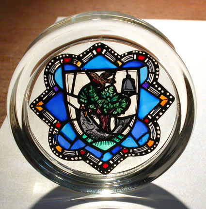 Glasgow Arms, Glasgow Cathedral Paperweight
