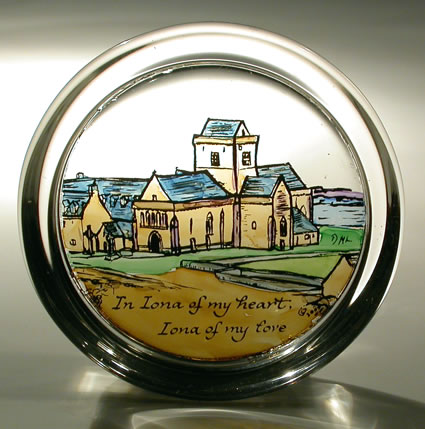 Stained Glass Paperweight - Iona Abbey - Heritage