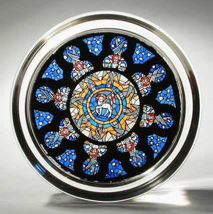 Stained Glass Paperweight - Rose Window - Hong Kong Cathedral