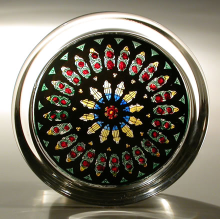 Winged heart paperweights for Rose window york minster