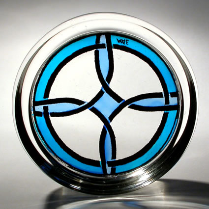 Paperweight Celtic Simple Cross Blue