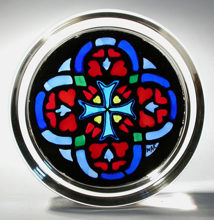 Stained Glass Paperweight - St. Patricks Cross - St. Patrick's - Cathedral New York