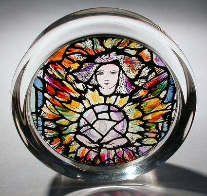 Stained Glass Paperweight - Uriel Canterbury - Cathedral