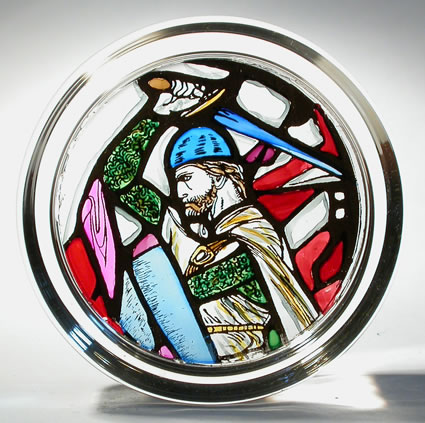 William Wallace Stained Glass Paperweight