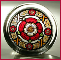 stained glass paperweight - heritage - chaplet vertical