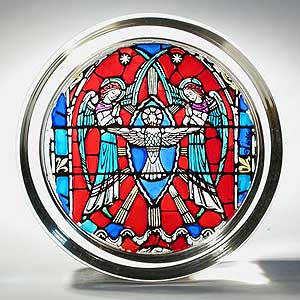 Angels with Holy Spirit from Washington National Cathedral Paperweight