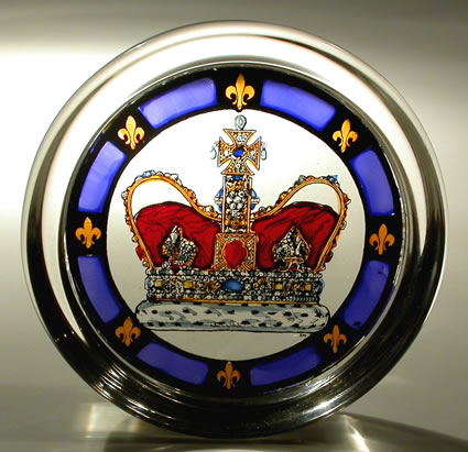 Stained Glass Paperweight - Royal Crown, Historic Royal Palaces